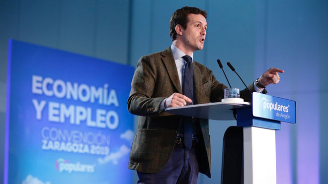 Casado asegura que gracias al PP, se ha detenido la venta de España a los independentistas.