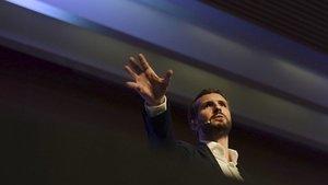 Casado, en la convención económica del PP en Córdaba, estes sábado.