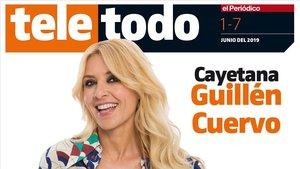 Cayetana Guillén Cuervo, en la portada de Teletodo.