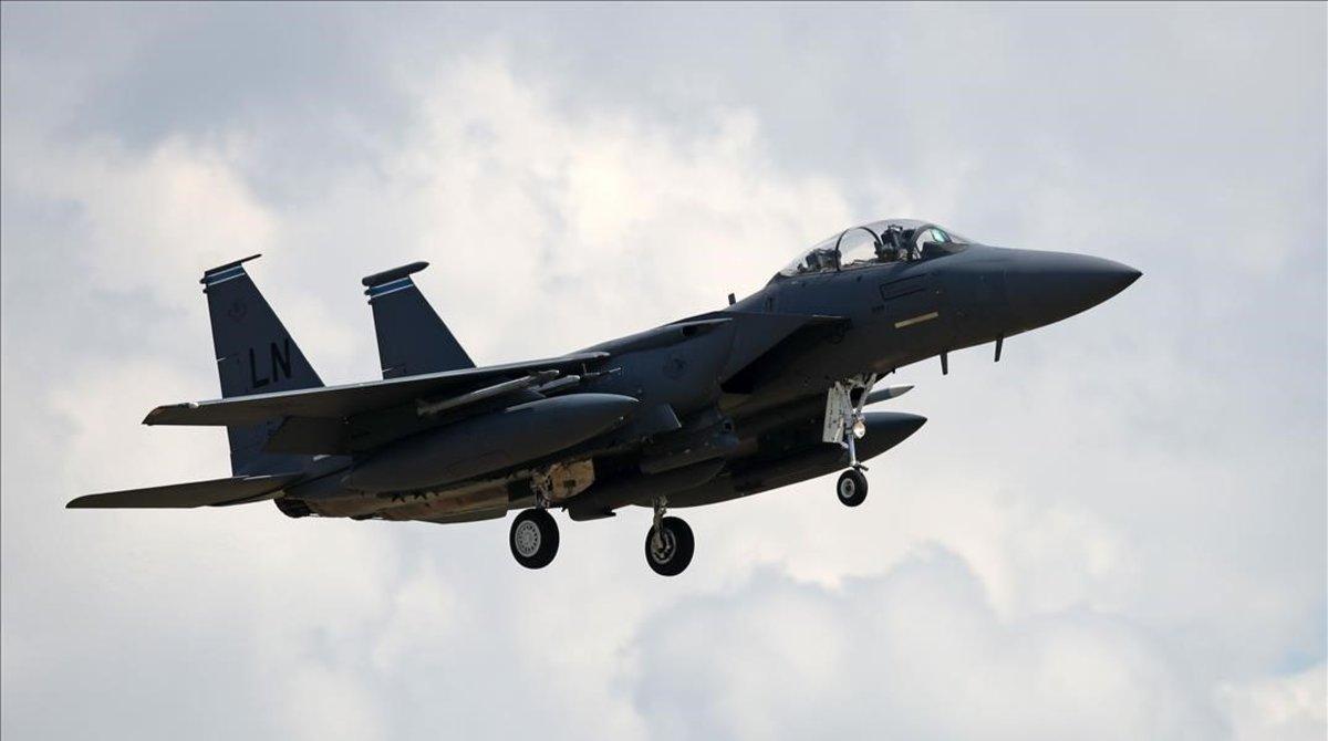 Un caza F-15E del ejército estadounidense.