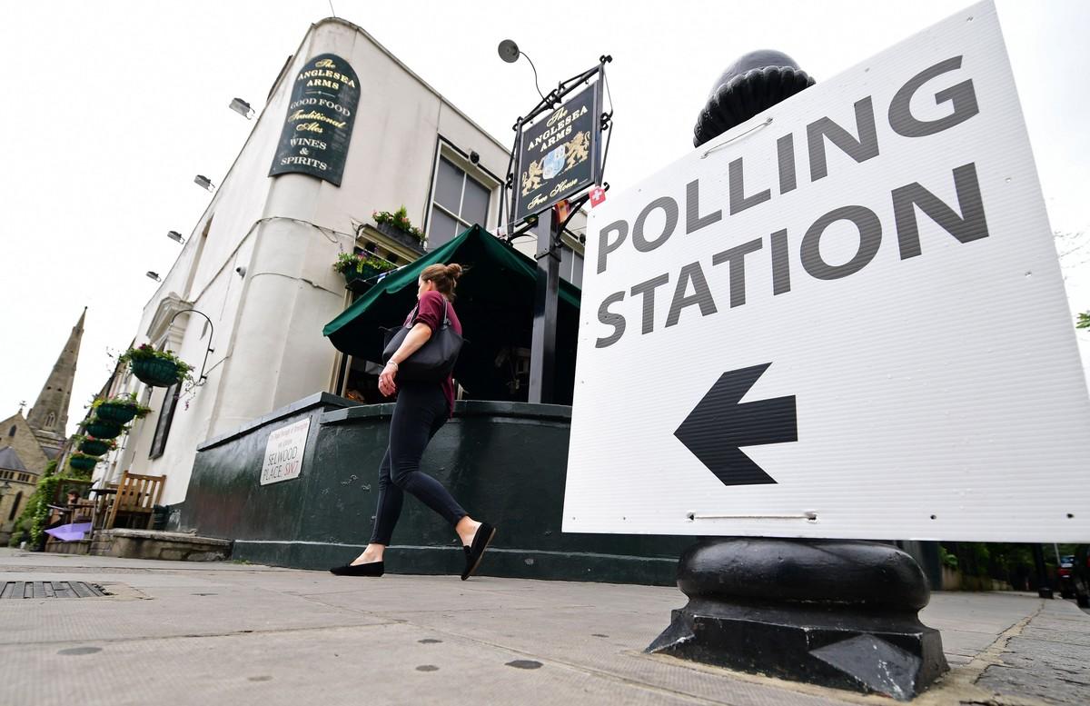 Centro de votación peculiar.