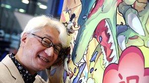 El cineasta Macoto Tezka, hijo del 'mangaka' Osamu Tezuka, este miércoles en el Manga Barcelona.