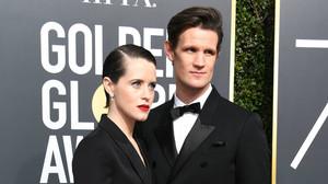Claire Foy y Matt Smith, en la última gala de los Globos de Oro.
