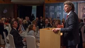 Jonas Kaufmannen el breve discurso que ofreció en el Foyer antes de la cena para recaudar fondos para el Liceu.