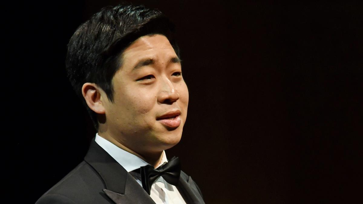 Sehoon Moon, ganador del tercer premio del 55 Concurs Internacional de Cant Teñor Viñas.