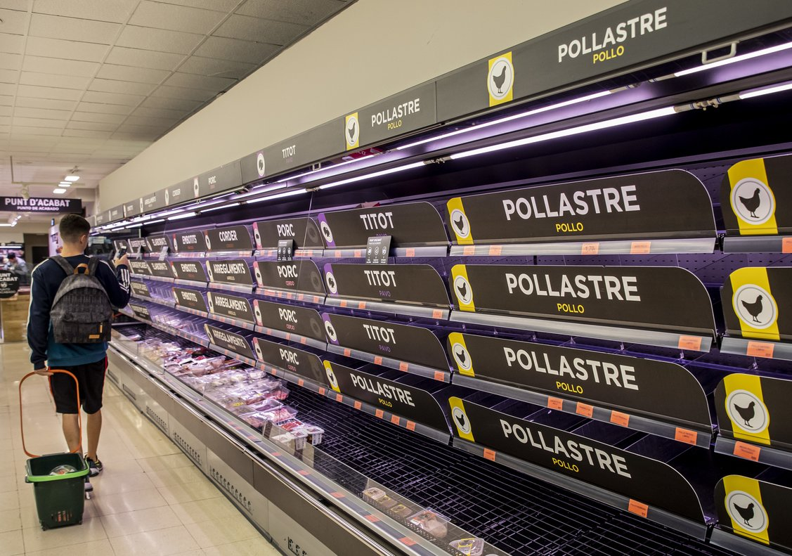 El consumo en alimentación ha crecido un 15% en las dos primeras semanas