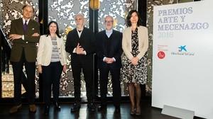 De derecha a izquierda, Guillermo de Osma, Elisa Durán, Carlos León, Jose María Lafuente y Mercedes Basso.