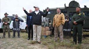 Donald Trump se dirige al personal de seguridad destinado a la frontera de EEUU con México.