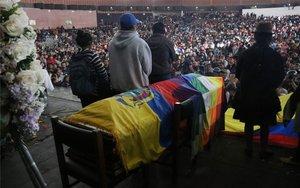 Velorio deInocencio Tucumbi, líder indígena ecuatoriano.