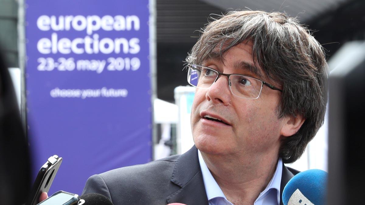 Elecciones 26-M. Puigdemont quiere ser eurodiptado para que se oiga la voz plural y directa del 1-0 sin intermediarios.