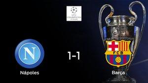 Empate entre el Nápoles y el Barcelona (1-1): todo se decidirá en el partido de vuelta de octavos de final