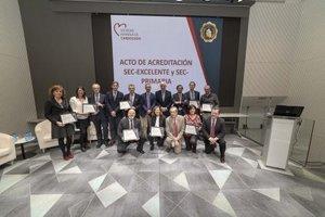 Entrega de acreditaciones SEC-EXCELENTE en la sede de la Sociedad Española de Cardiología