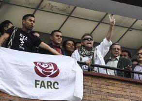 La foto fue tomada en la sede del partido de las FARC.