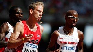 Farah (derecha) y Rupp, rivales también en maratón.