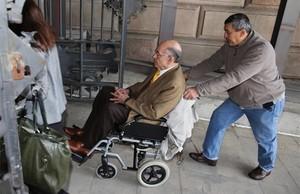 Fèlix Millet, en febrero del 2014, en la puerta de la Audiencia de Barcelona.
