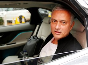 FILE PHOTO: Jose Mourinho is driven away from his accommodation after leaving his job as Manchester United's manager, in Manchester, Britain, December 18, 2018. REUTERS/Phil Noble/File Photo