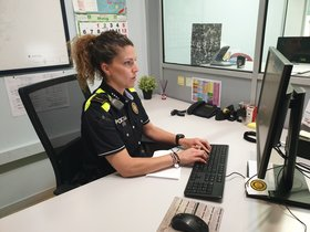Verónica Paredes, la primera mujer cabo en la Policía Local de Parets del Vallès.