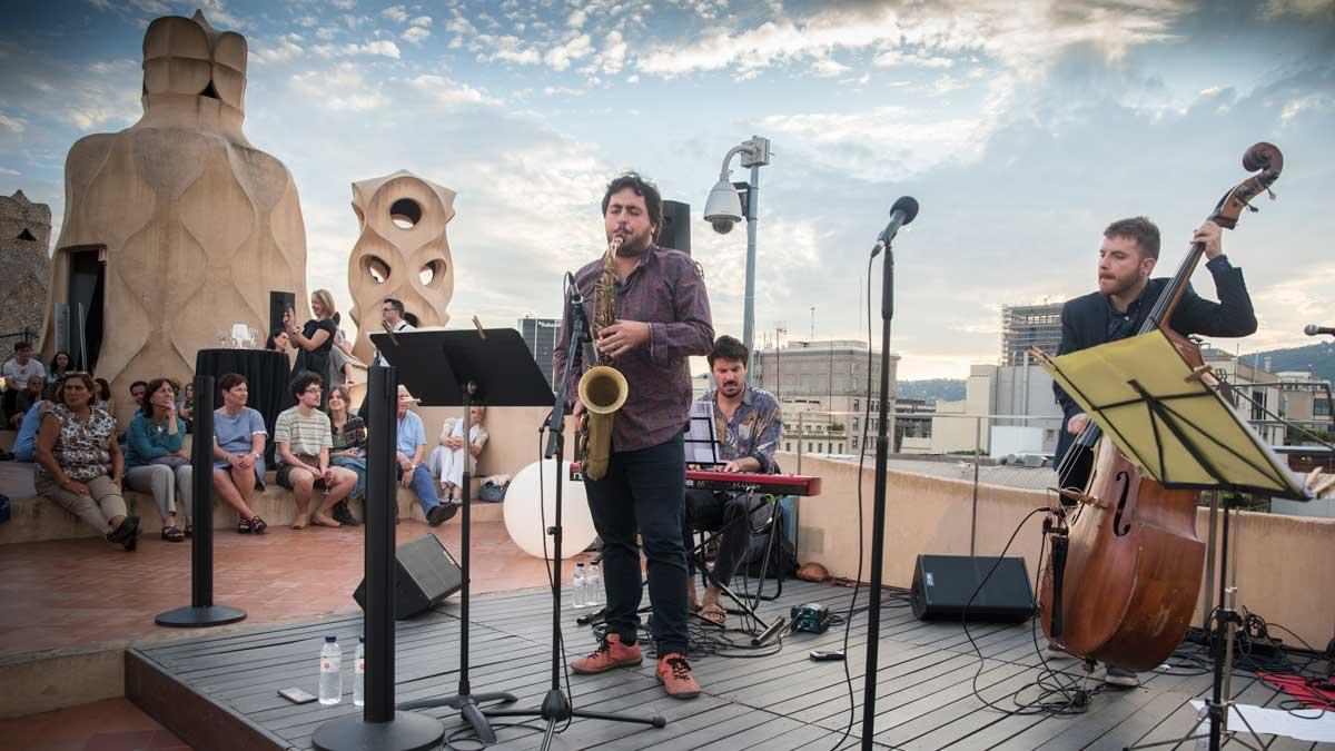Gaudí y el jazz unidos en la terraza de La Pedrera