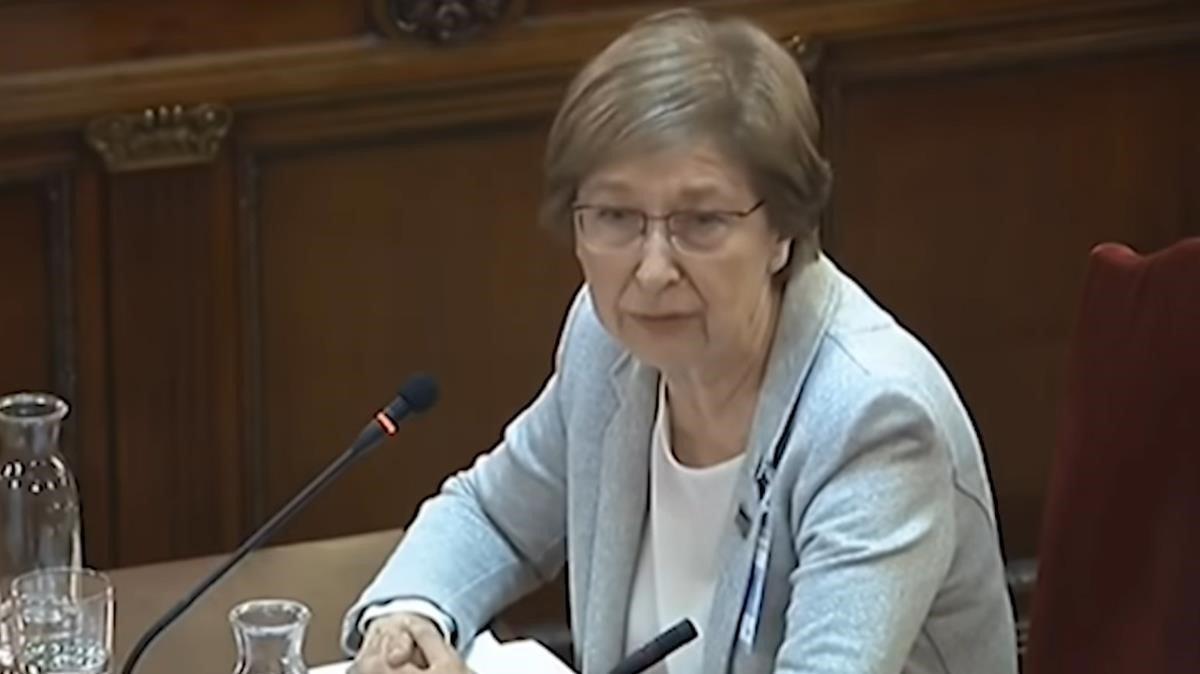 Gemma Rigau declarando en el Tribunal Supremo
