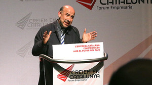 Germà Bel, en el Forum Empresarial Creiem en Catalunya, el 23 de octubre del 2014.