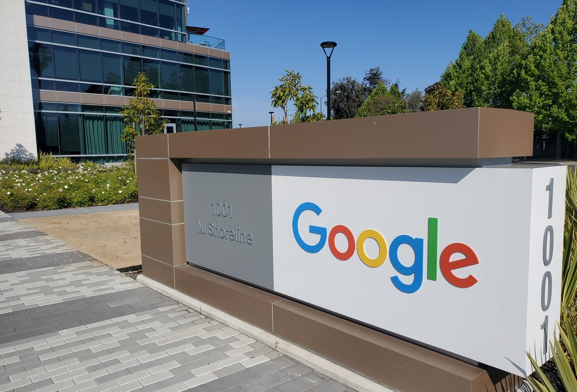 El centro logístico de Google en Mountain View, California.