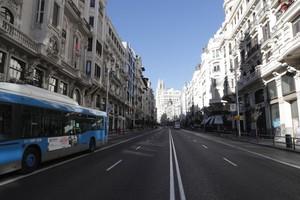 Vista de la Gran Vía desde la calle Alcalá.