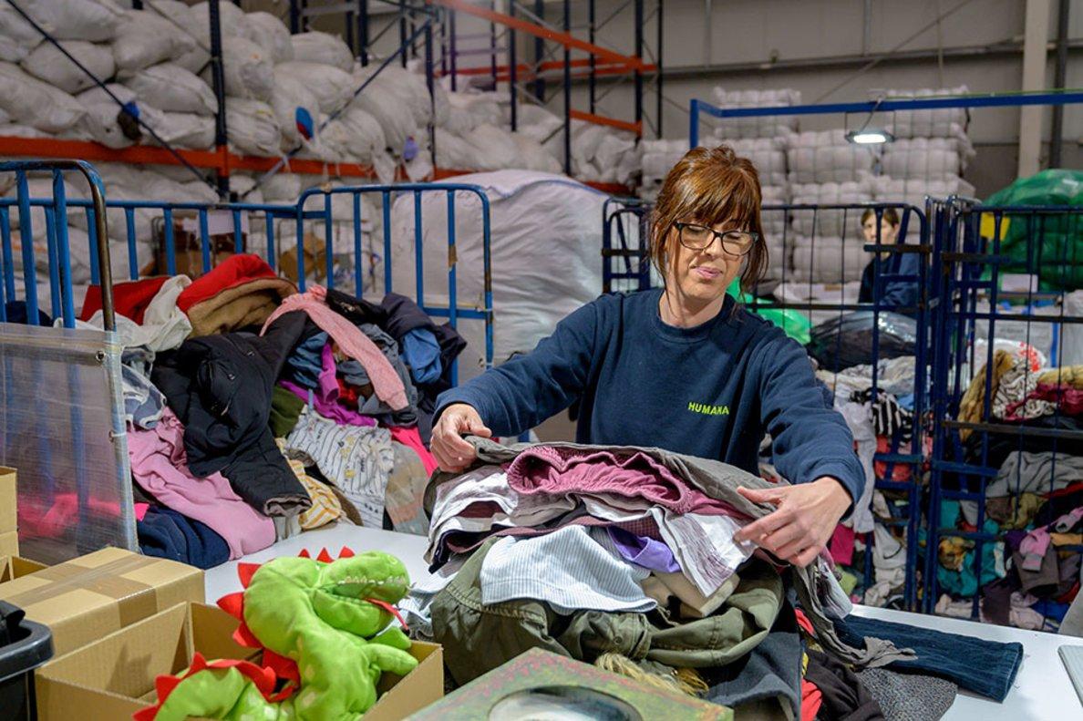 Humana recupera més de 60 tones de tèxtil a Rubí durant el primer semestre del 2019
