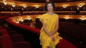 Lisette Oropesa, soprano de EEUU protagonista de 'Rodelina', de Händel, en el Liceu.