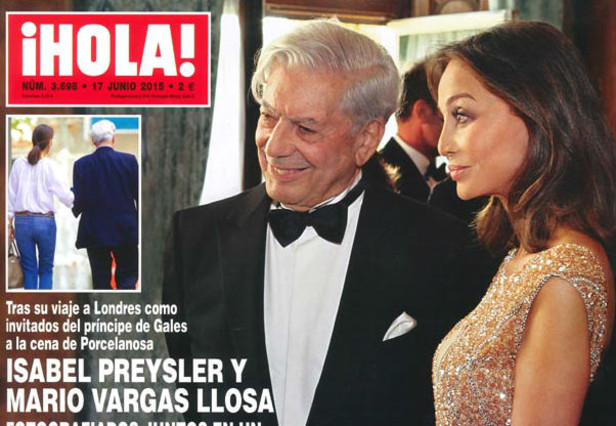 Isabel Preysler y Mario Vargas Llosa, en la portada de la revista '¡Hola!'.