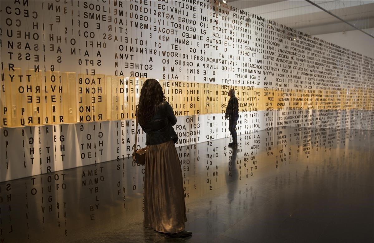 Exposición de Jaume Plensa en el Macba, el viernes pasado.