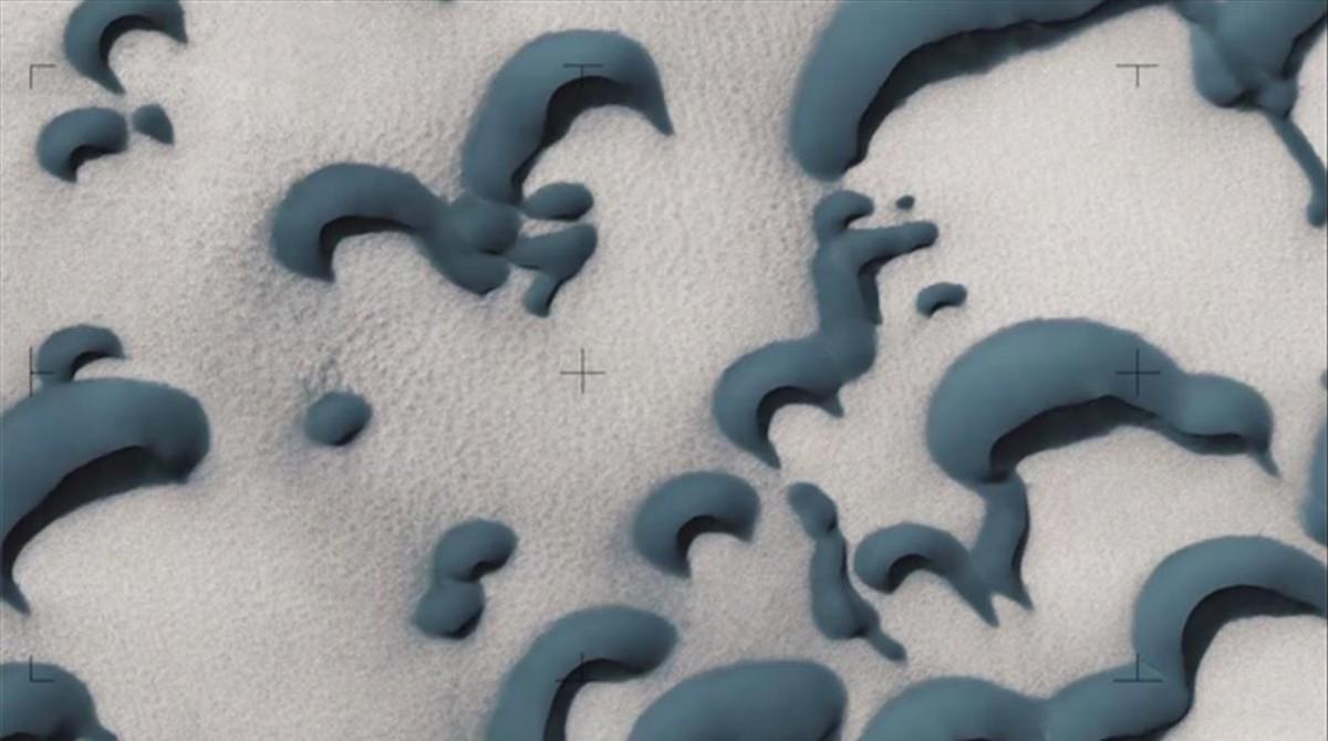 Imagenes de la NASA captada por la camara HiRISE instal lada a bord de la sonda Mars Reconnaissance Orbiter.