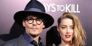 Johnny Depp y su ya esposa, Amber Heard, en una reciente premiere.