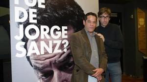 El actor Jorge Sanz, junto con el director de ¿Qué fue de Jorge Sanz?, David Trueba.