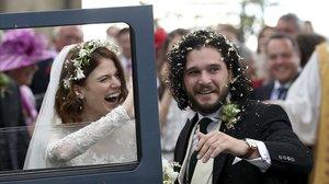 KitHarington y Rose Leslie, en el día de su boda, el pasado 23 de junio.