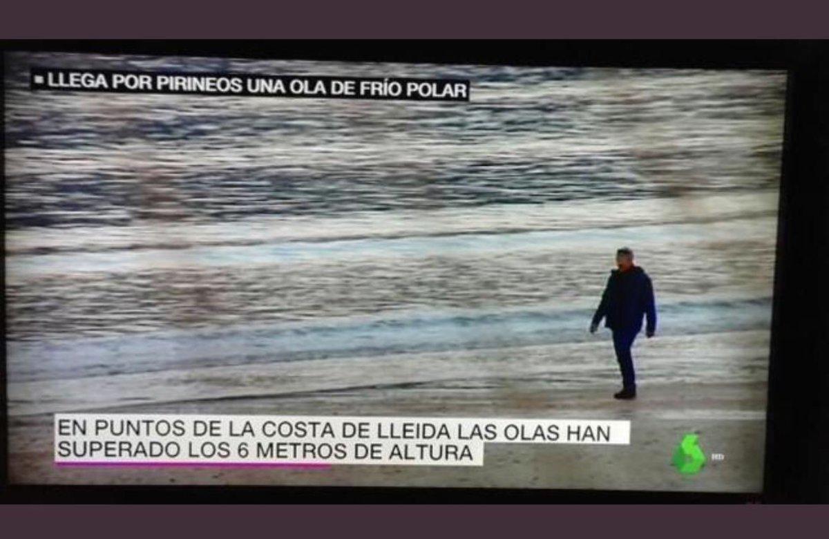 Lleida tiene playa, según La Sexta