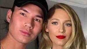 El maquillador Patrick Ta y Blake Lively.