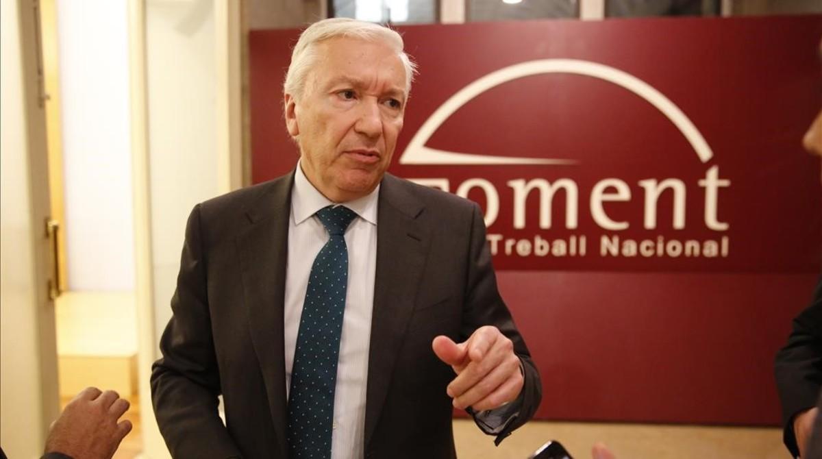Antoni Abad, presidente de Cecot, en la sede deFoment del Treball.