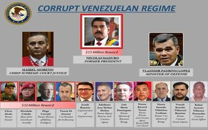 EEUU acusa a Niocolás Maduro de narcotráfico.