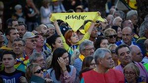 Manifestación independentista en Barcelona en rechazo a la sentencia del 1-O