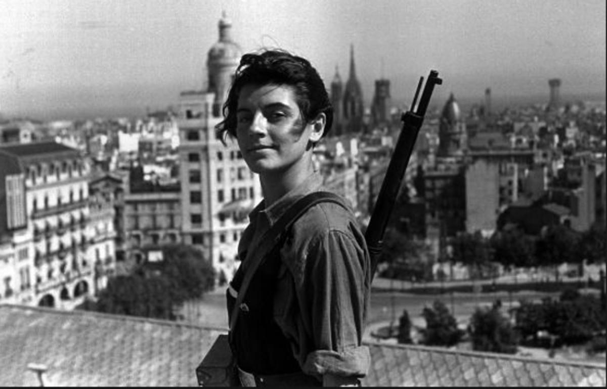 La miliciana Maria Ginestà.