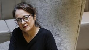 Marta Sanz, en un céntrico hotel de Barcelona.