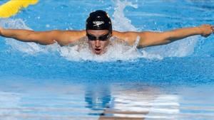 Mireia Belmonte, en la piscina de Tarragona.