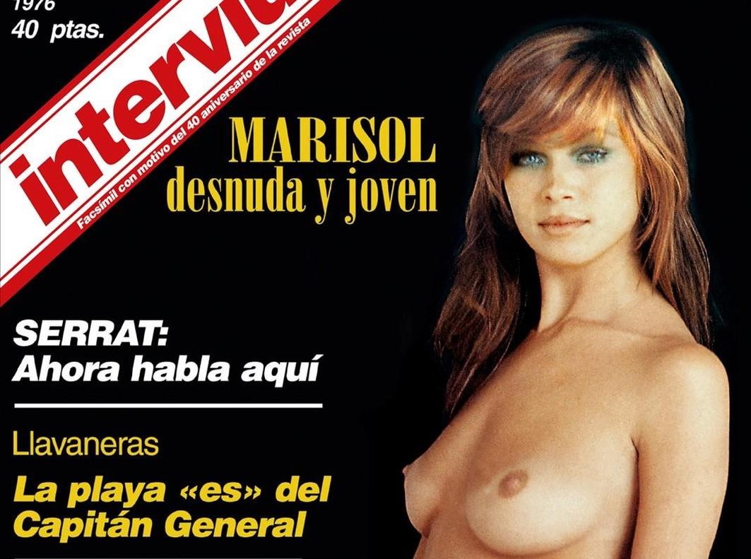 Detalle de la portada de Interviú dedicada a la cantante Marisol.