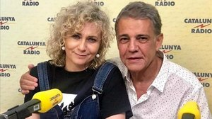 Los periodistas Mònica Terribas y Joaquim Maria Puyal.