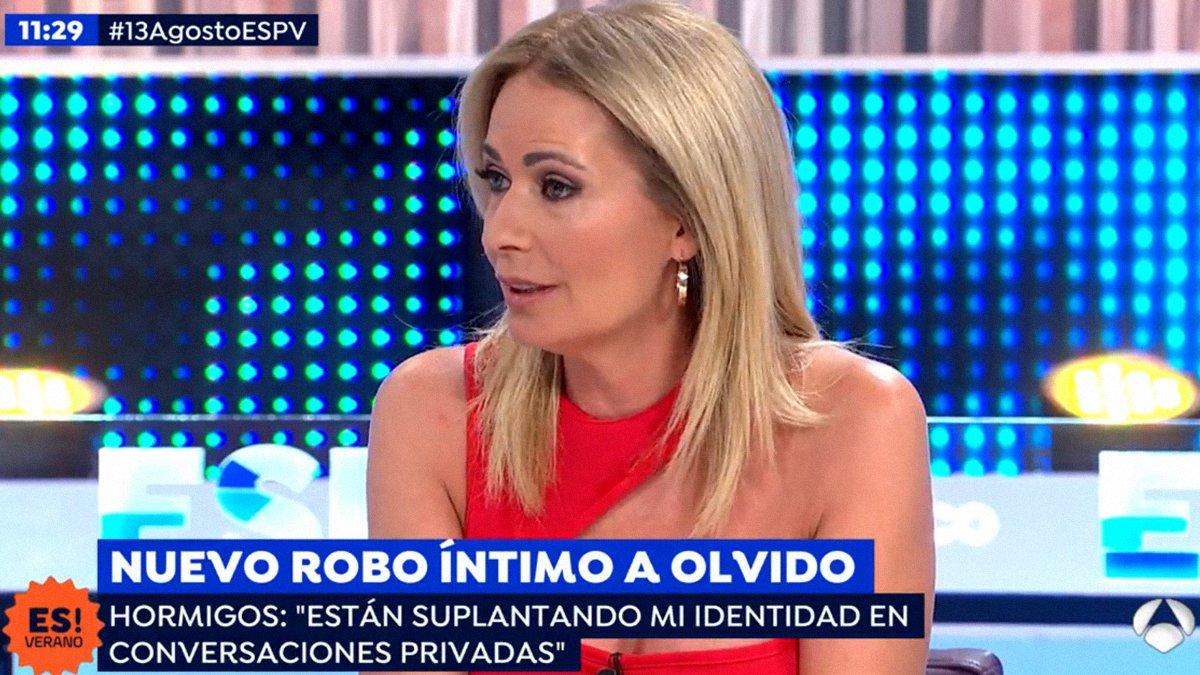 Olvido Hormigos reaparece en 'Espejo público' y denuncia nuevos ataques contra su intimidad