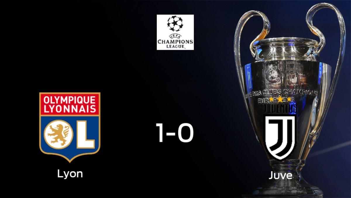 El Olympique Lyon gana 1-0 contra la Juventus y por ahora toma ventaja en la eliminatoria