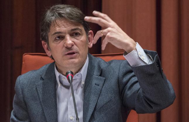 Oriol Pujol, durante su comparecencia en el Parlament, el pasado 2 de marzo.