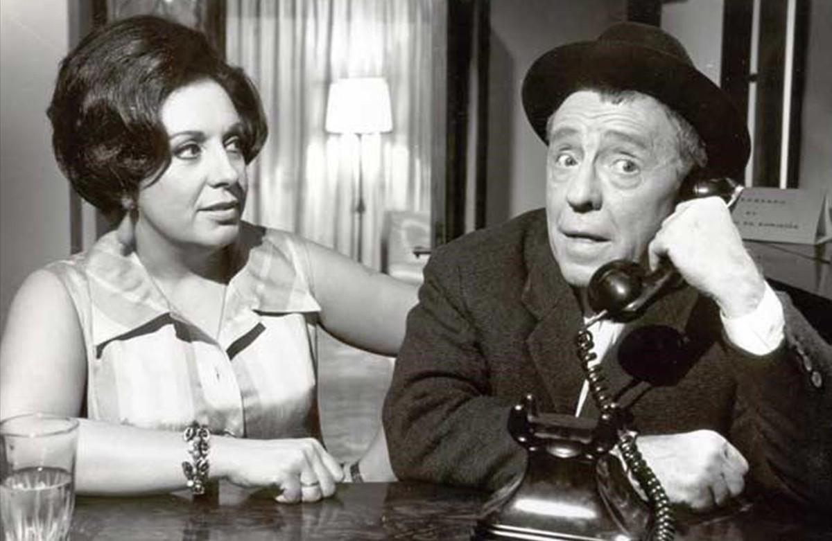 Paco Martínez Soria, junto a Florinda Chico en Abuelo made in Spain (1969).