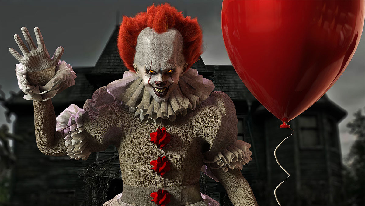 Pennywise, el payaso asesino de It.