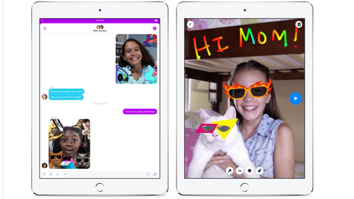 Pequeños de hasta 6 años podrán usar la nueva app de Facebook, Messenger Kids.